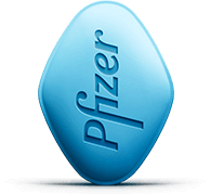Blue original VIAGRA tablet
